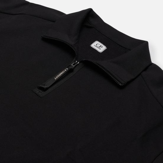 Мужская толстовка C.P. Company Lens Pocket Half-Zip Diagonal Raised Fleece Black