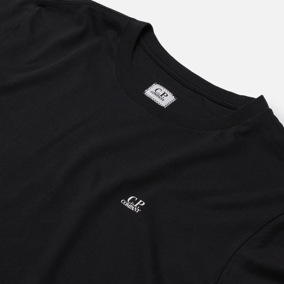 Мужская футболка C.P. Company Goggle Hood Print Jersey 30/1 Black