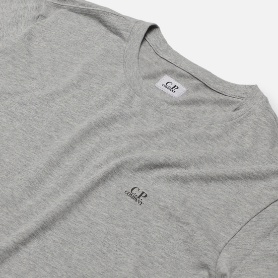 Мужская футболка C.P. Company Goggle Hood Print Jersey 30/1 Grey Melange