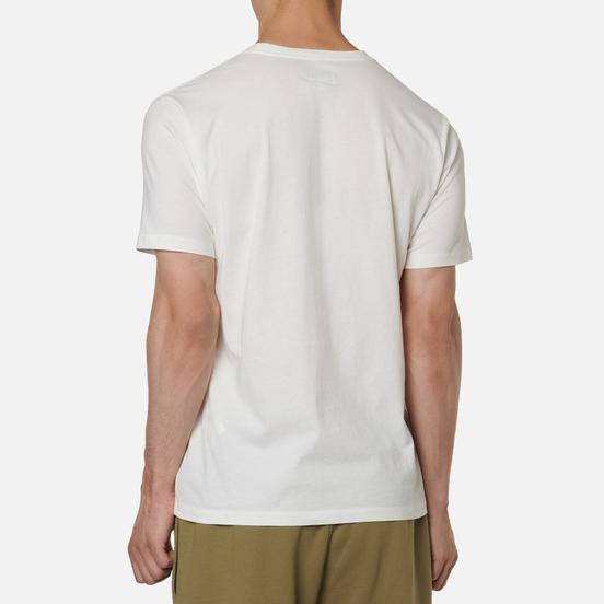 Мужская футболка C.P. Company Mini Logo Label Jersey 30/1 Gauze White