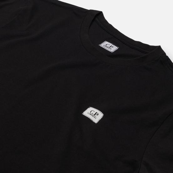 Мужская футболка C.P. Company Mini Logo Label Jersey 30/1 Black
