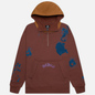 Мужская толстовка Converse x Bandulu Hoodie Dark Brown фото - 0
