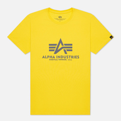 Мужская футболка Alpha Industries Basic Empire Yellow