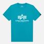 Мужская футболка Alpha Industries Basic Blue Lagoon фото - 0