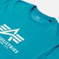 Мужская футболка Alpha Industries Basic Blue Lagoon фото - 1