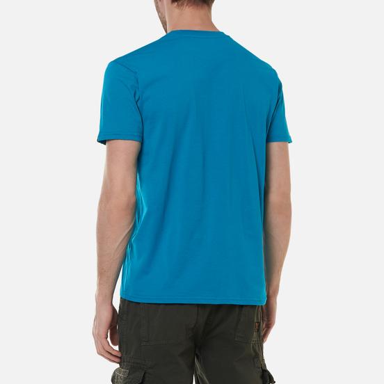 Мужская футболка Alpha Industries Basic Blue Lagoon