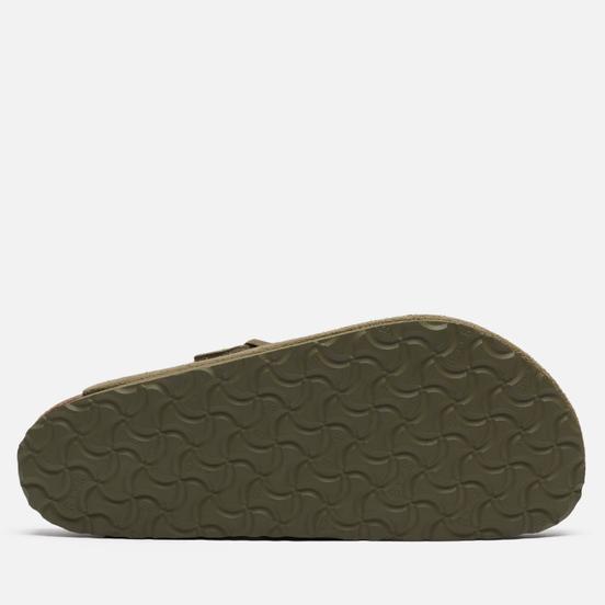 Мужские сандалии Birkenstock Boston Suede Faded Khaki