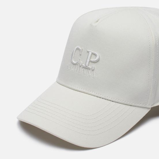 Кепка C.P. Company Gabardine Classic Logo Baseball Gauze White