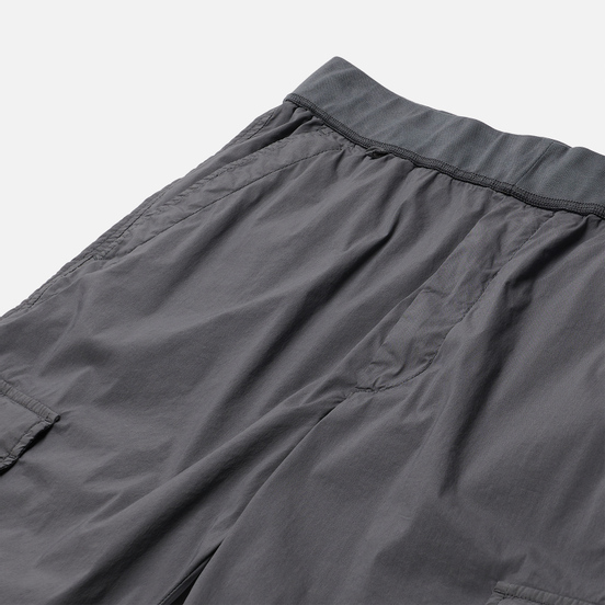 Мужские шорты C.P. Company 50 Fili Stretch Garment Dyed Lens Cargo Gargoyle