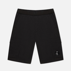 Мужские шорты C.P. Company 50 Fili Stretch Garment Dyed Lens Cargo Black