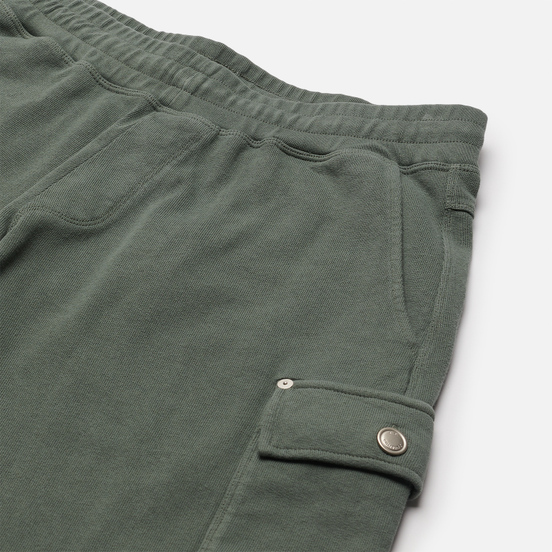 Мужские шорты C.P. Company Open End Fleece Garment Dyed Lens Laurel Wreath