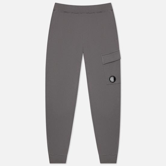 Мужские брюки C.P. Company Diagonal Raised Fleece Lens Track Gargoyle