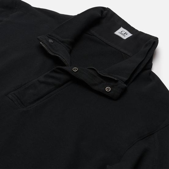 Мужская толстовка C.P. Company Light Fleece Garment Dyed Quarter Zip Lens Black