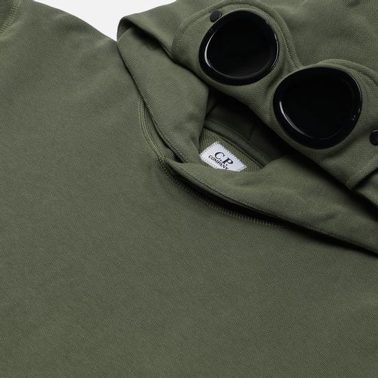 Мужская толстовка C.P. Company Diagonal Fleece Hooded Goggle Laurel Wreath