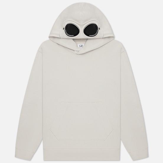 Мужская толстовка C.P. Company Diagonal Fleece Hooded Goggle Moonstruck Grey