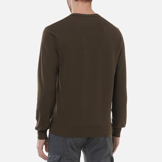 Мужская толстовка C.P. Company Light Fleece Mixed Garment Dyed Chest Logo Ivy Green