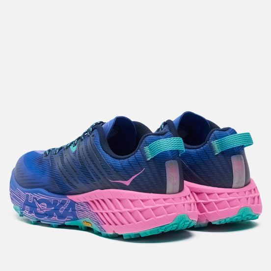 Женские кроссовки Hoka One One Speedgoat 4 Dazzling Blue/Phlox Pink