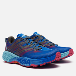 Женские кроссовки Hoka One One Speedgoat 4 Imperial Blue/Pink Peacock