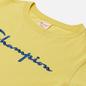 Женская футболка Champion Reverse Weave Script Logo Crew Neck Yellow фото - 1