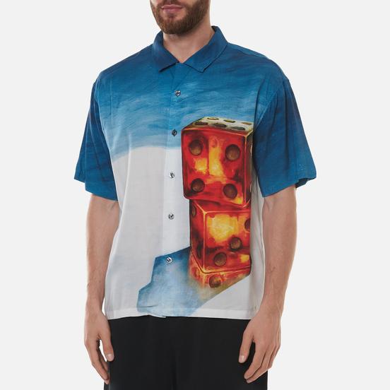Мужская рубашка Stussy Dice Painting Blue