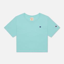 Женская футболка Champion Reverse Weave C Logo Crew Neck Cropped Honeydew