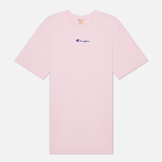 Женское платье Champion Reverse Weave Small Script Logo Midi Baby Pink