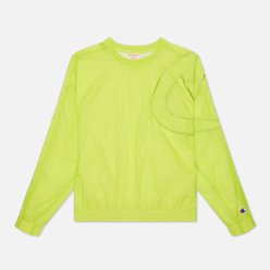 Женская толстовка Champion Reverse Weave Oversized C Logo Track Fluorescent Lime