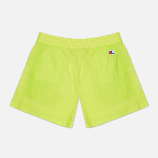 Женские шорты Champion Reverse Weave Tape Detail Track Fluorescent Lime