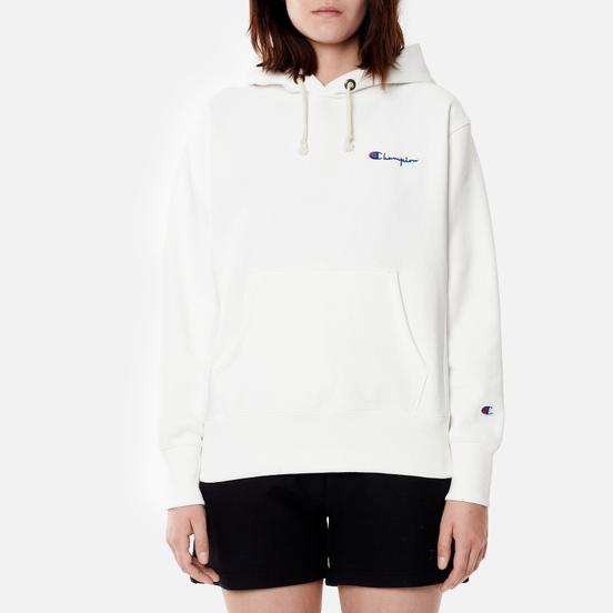 Женская толстовка Champion Reverse Weave Small Script & Logo Sleeve Hoodie White