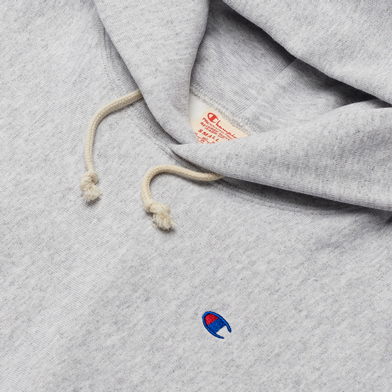 Женская толстовка Champion Reverse Weave Small Logo Chest And Sleeve Hooded Light Grey