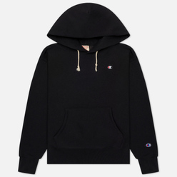 Женская толстовка Champion Reverse Weave Small Logo Chest And Sleeve Hooded Black