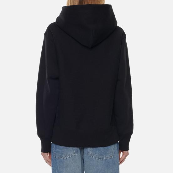 Женская толстовка Champion Reverse Weave Small Logo Chest And Sleeve Hooded Black