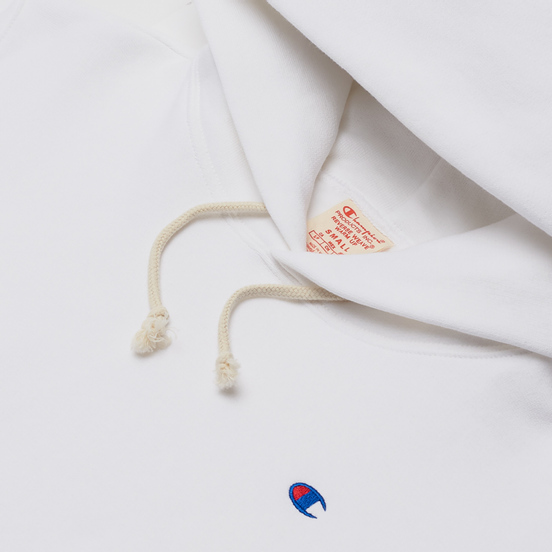 Женская толстовка Champion Reverse Weave Small Logo Chest And Sleeve Hooded White