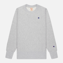 Женская толстовка Champion Reverse Weave Small Logo Chest And Sleeve Crew Neck Light Grey