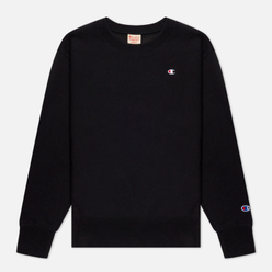 Женская толстовка Champion Reverse Weave Small Logo Chest And Sleeve Crew Neck Black