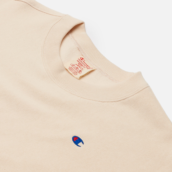 Женская толстовка Champion Reverse Weave Small Logo Chest And Sleeve Crew Neck Bone