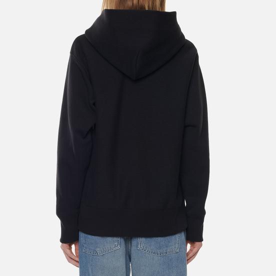 Женская толстовка Champion Reverse Weave Big Script Chest & Logo Sleeve Hooded Black