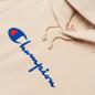 Женская толстовка Champion Reverse Weave Big Script Chest & Logo Sleeve Hooded Bone фото - 1
