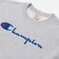 Женская толстовка Champion Reverse Weave Script Logo Chest And C Logo Sleeve Light Grey фото - 1