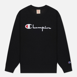 Женская толстовка Champion Reverse Weave Script Logo Chest And C Logo Sleeve Black