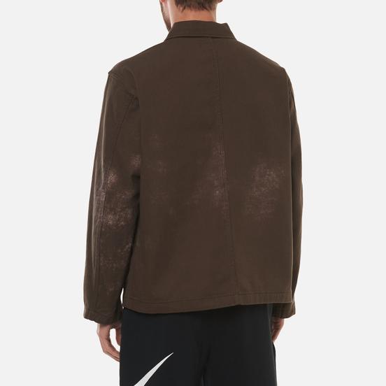Мужская джинсовая куртка Stussy Spotted Bleach Chore Brown