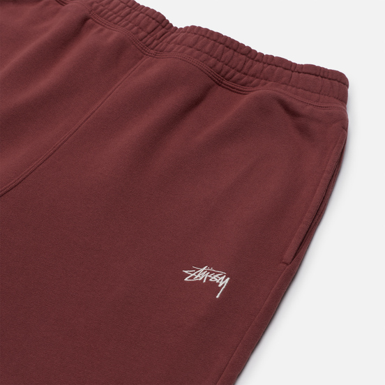 Мужские брюки Stussy Stock Logo Burgundy