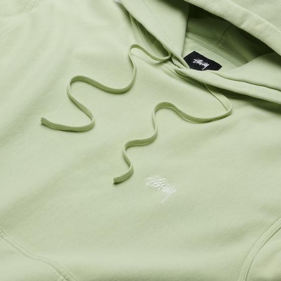 Мужская толстовка Stussy Logo Hoodie Green