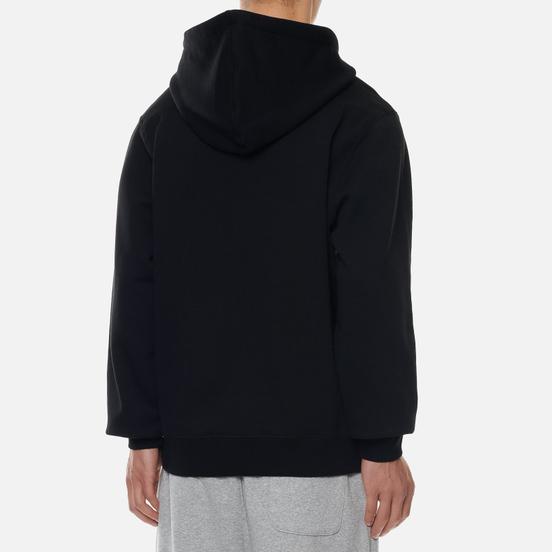 Мужская толстовка Stussy Stock Logo Applique Hoodie Black/White