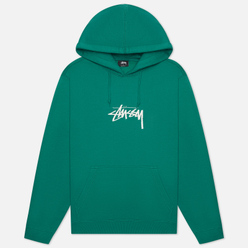 Мужская толстовка Stussy Stock Logo Applique Hoodie Dark Green