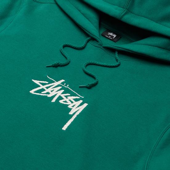 Мужская толстовка Stussy Stock Logo Applique Hoodie Dark Green
