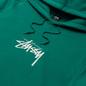 Мужская толстовка Stussy Stock Logo Applique Hoodie Dark Green фото - 1
