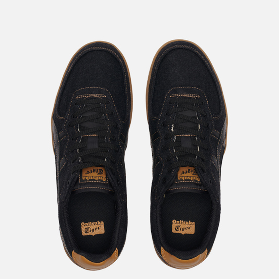 Мужские кроссовки Onitsuka Tiger GSM Black/Black/Brown