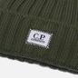 Шапка C.P. Company Extra Fine Merino Wool Logo Stone Grey фото - 1