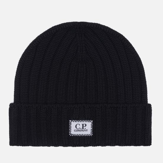 Шапка C.P. Company Extra Fine Merino Wool Logo Black